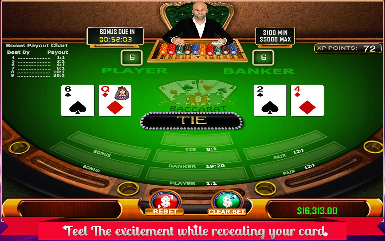 Baccarat - Casino Style- screenshot