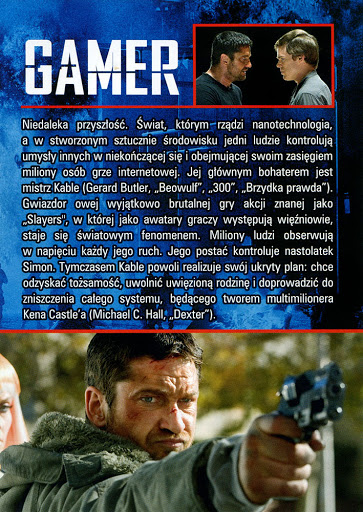 Tył ulotki filmu 'Gamer'
