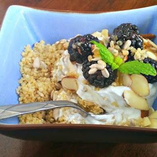 Breakfast Quinoa with Blackberries.