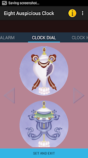 Eight Auspicious Clock Widget - náhled
