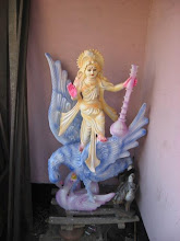 Photo: Saraswati Murti from the Saraswati Puja on 1/30/09 at Dhaka Maha Praksah Math
