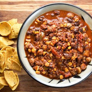 Slow Cooker Soy Chorizo Chili.