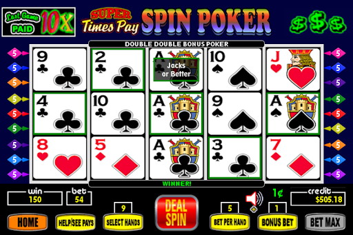 Super Times Pay Spin Poker - FREE 1.2.4 screenshots 1