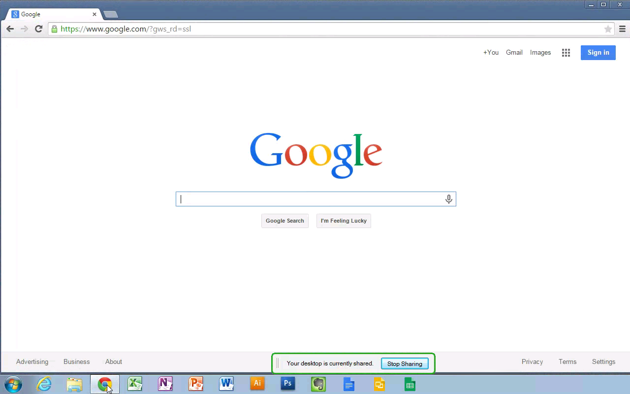 Chrome Remote Desktop - screenshot