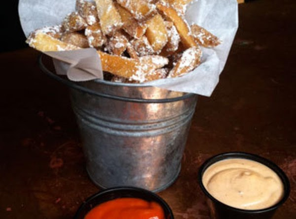 Belgian Fries With Bacon Dust And Chipotle Mayo Dipping