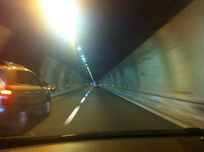 Photo: another tunnel in Italy . . . the main highways go under the mountains so not very picturesque