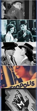 Film strip of classic film photos.
