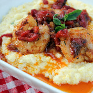 Tupelo Honey Cafe's Shrimp & Goat Cheese Grits
