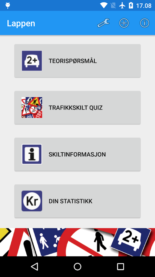 Driving licence (Norway) - screenshot