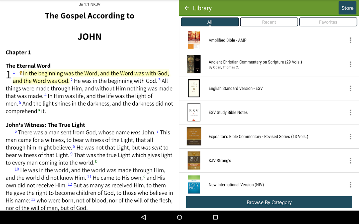 New King James Bible (NKJV)- screenshot