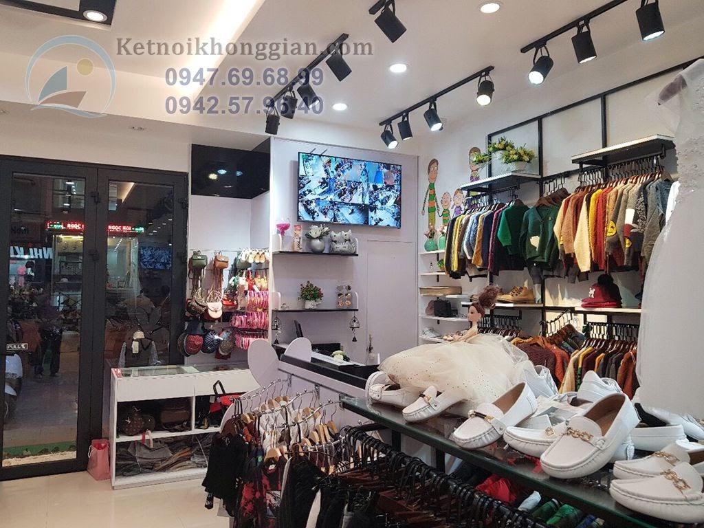 thiết kế shop thời trang trẻ em trong trung tâm thương mại