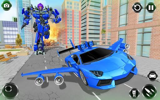 Flying Car- Super Robot Transformation Simulator apkpoly screenshots 4