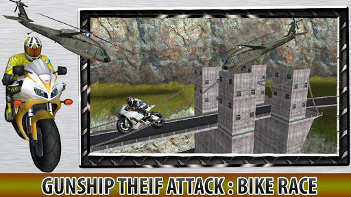 Gunship Theif Attack:Bike Race