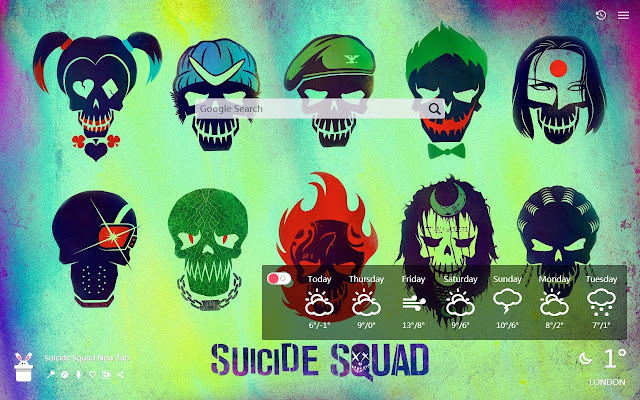 Suicide Squad New Tab, Wallpapers HD