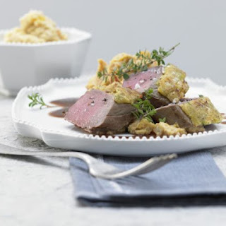 Herb and Nut Crusted Venison.