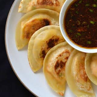 Tofu Kimchi Dumplings (Korean Mandu).