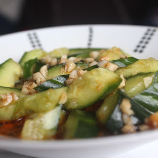 Smacked Cucumber with Garlic.