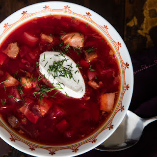 Hot Ukrainian Borscht Recipe (With Beets, Beef, Pork, and More).