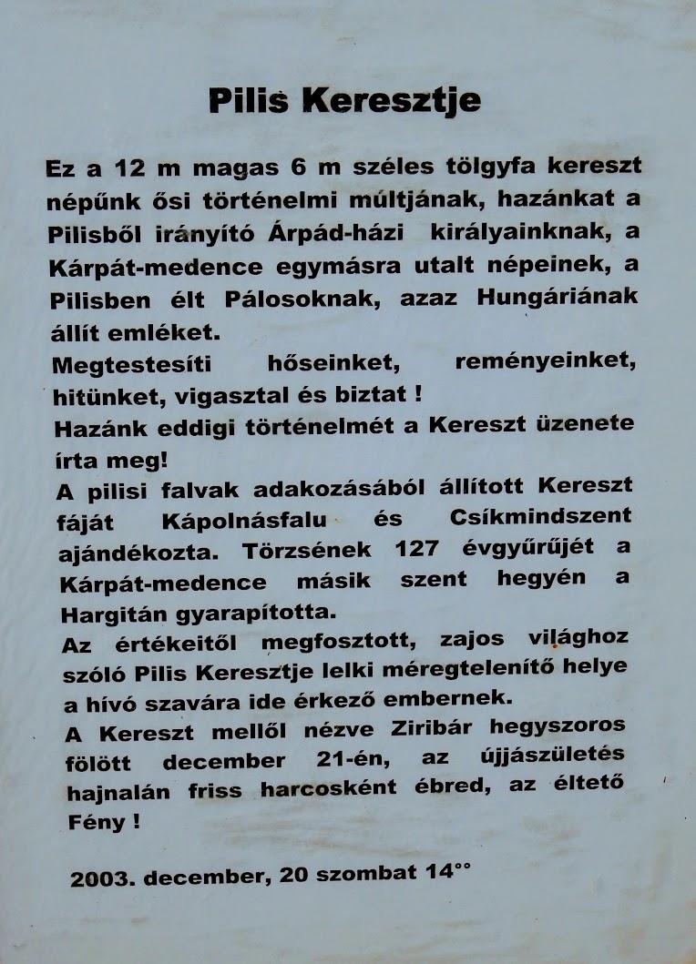 Pilisszántó - Pilis keresztje
