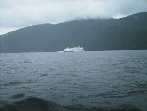 Photo: The BC Ferry southbound in Graham Reach.
