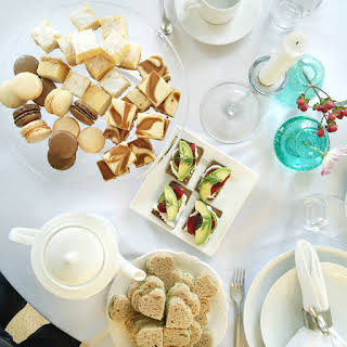 English Tea and Cucumber Sandwiches.