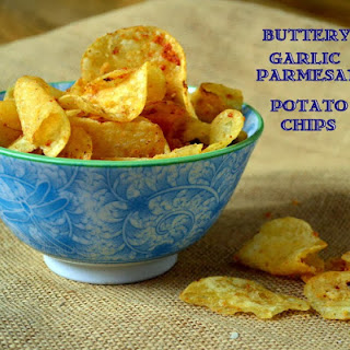 Buttery Garlic Parmesan Potato Chips Recipe