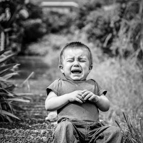 End of the World by Graeme Carlisle - Babies & Children Children Candids ( child, crying, boy, portrait )