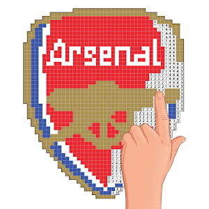 تحميل Pixel Art Football Logo Coloring Color By Number Apk