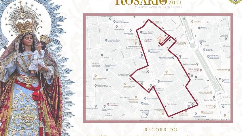 Itinerario de la procesión del Rosario de la Macarena.