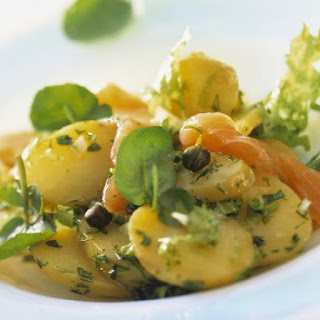 Potato Salad, Smoked Salmon and Herbs