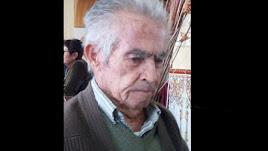 Domingo García desapareció este domingo en Oria.