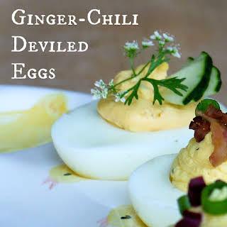 Ginger-Chili Deviled Eggs.