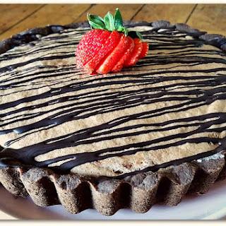 Chocolate and Strawberry Mousse Pie With Graham Cracker Crust [Vegan, Gluten-Free].