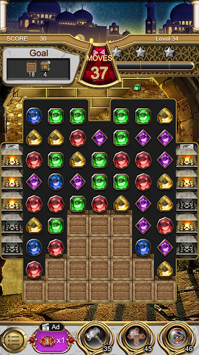 Jewels Magic Lamp : Match 3 Puzzle apkpoly screenshots 6