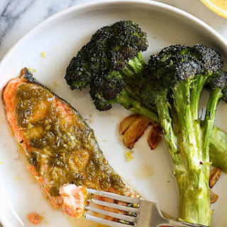 Green Harissa Salmon