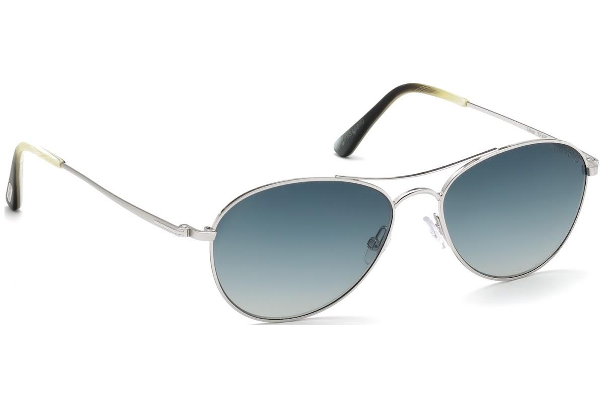 9a197dbf1bd Sunglasses Tom Ford Oliver FT0495 C56 18W (shiny rhodium   gradient blue)