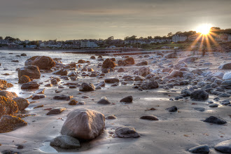 Photo: Evening sun over Criccieth