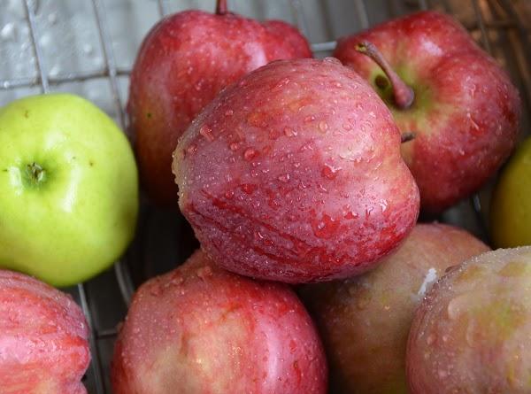 Peel and shred carrots..I used my handy dandy food processor.  Peel and chop apple....