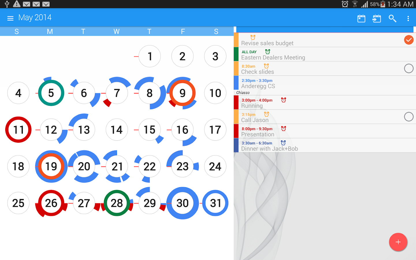 CloudCal Calendar Agenda Plan- screenshot
