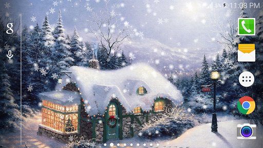 圣诞冬季童話雪景动态壁纸