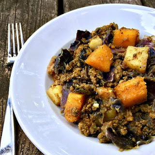 Spiced Beef Stew with Cabbage, Butternut Squash & Sweet Potato.