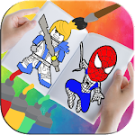 Heroes Coloring Book Icon