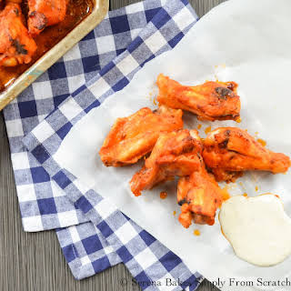 Baked Hot Wings.