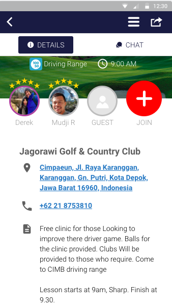 free golf clinic deemples derek cribb