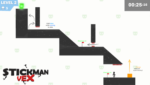 Stickman Impaled:Stick Parkour Platformer apkpoly screenshots 1