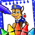 paww puppy coloring patroll game