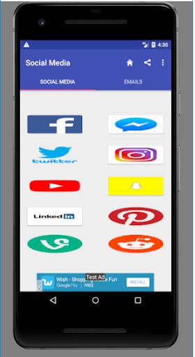 Popular Social media and Emails 1.0.0.4.0 screenshots 1