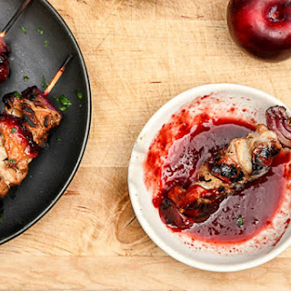 Grilled Pork & Plum Kebabs.
