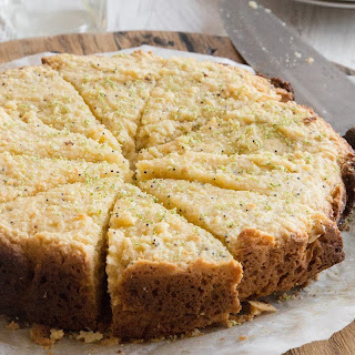 Lime, Coconut + Poppy Seed Cake.
