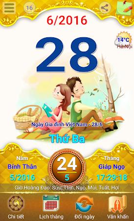 Lich Van Nien - Lịch VN 2016 7.5 screenshot 334419